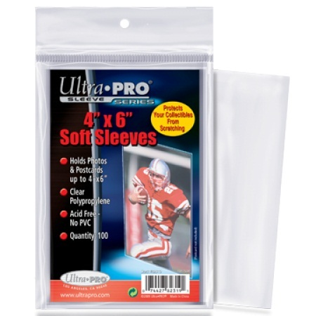 Ultra Pro 4x6 Trading Card And Photo Sleeves