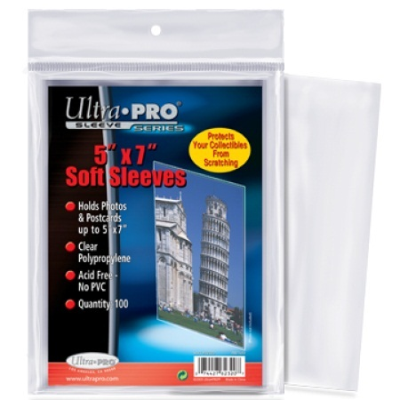 Ultra Pro 5x7 Trading Card And Photo Sleeves