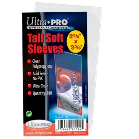 Ultra Pro Tall Soft Sleeves