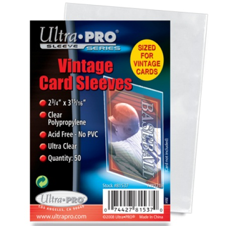 Ultra Pro Vintage Trading Card Sleeves