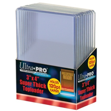 Ultra Pro 3 x 4 Thick Card 120 pt Topload Holder