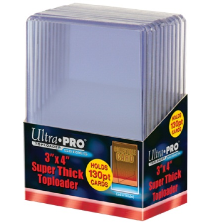 Ultra Pro 3 x 4 Thick Card 130 pt Topload Holder