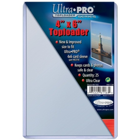 Ultra Pro 4 x 6 Topload Holder