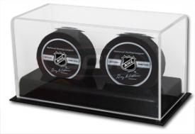 Deluxe Acrylic Two Hockey Puck Display