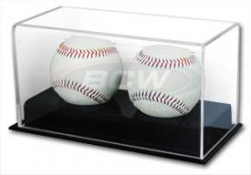 Deluxe Acrylic Two Baseball Display