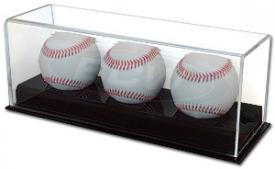 Deluxe Acrylic Three Baseball Display