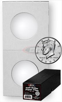 Half Dollar 2x2 Paper Flips - Boxed