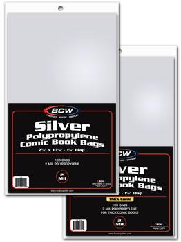 Silver Comic Book Bags