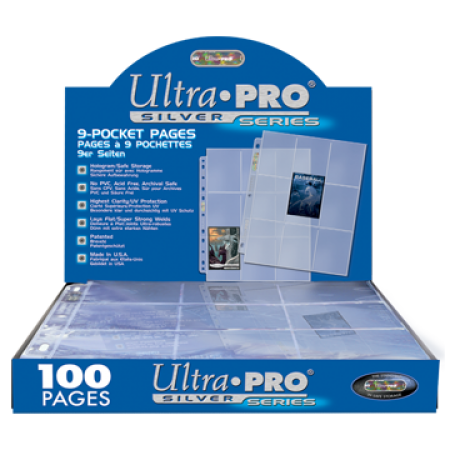 Ultra Pro 9 Pocket Silver Pages